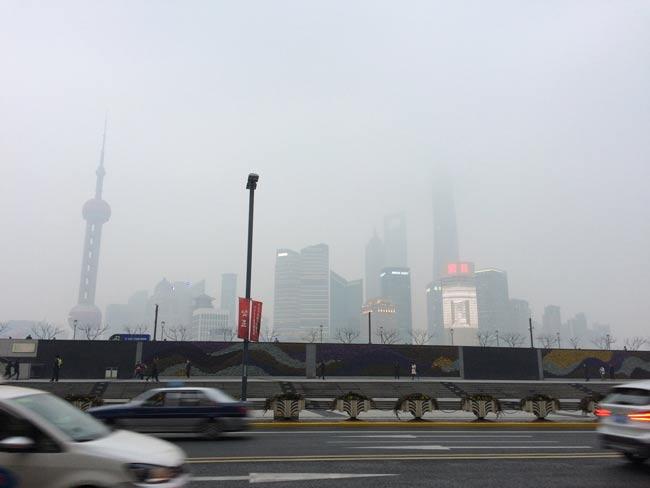 2018年1月下旬の上海のバンド (外灘)