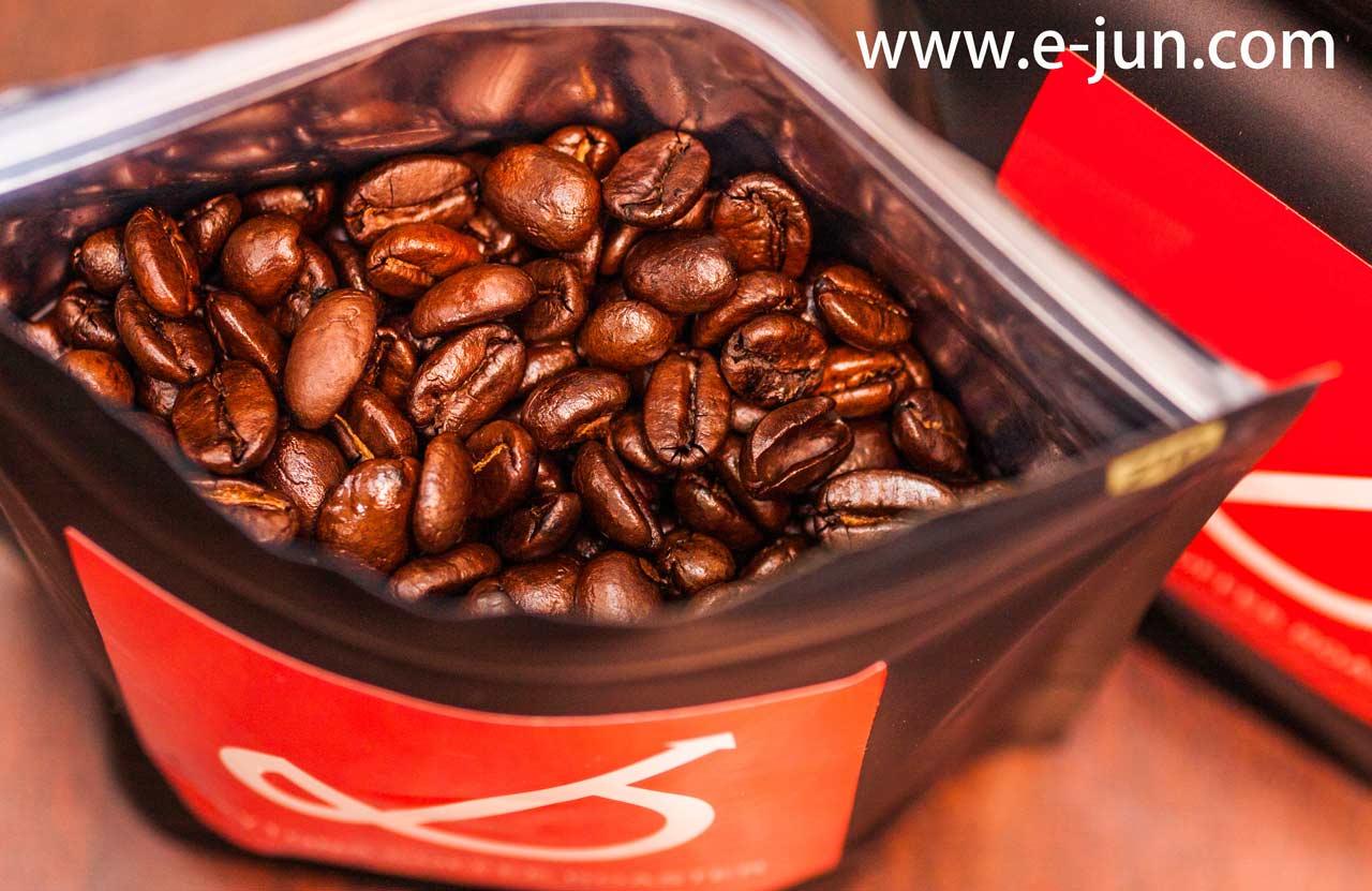 感謝。焙煎したての新鮮なコーヒー豆をUber Eats福岡で買った